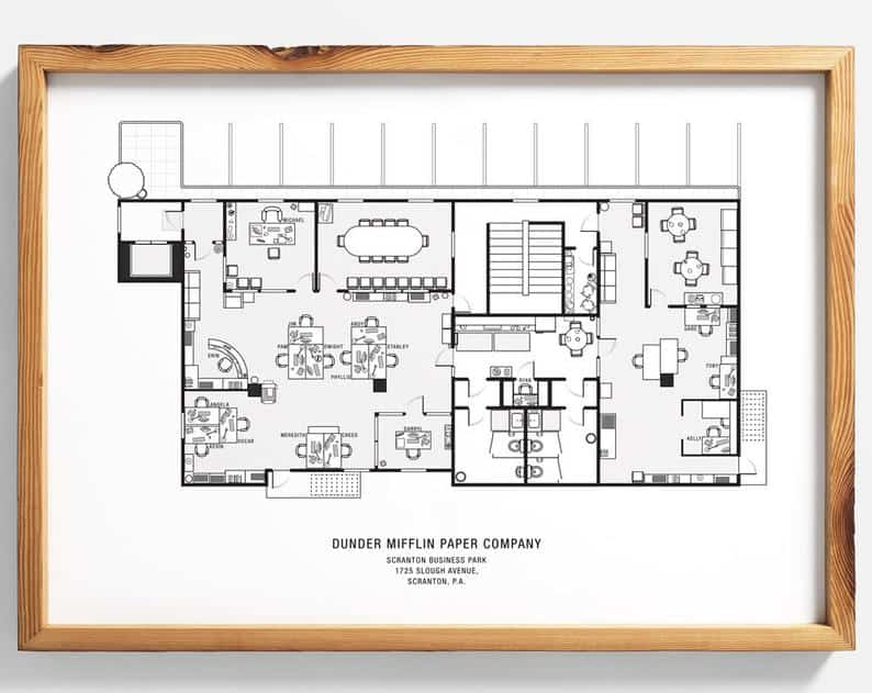 The Office floor plan