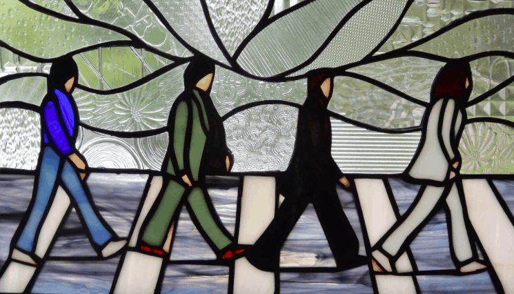 Handcrafted Abbey Road Stained Glass