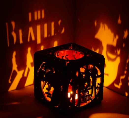 Beatles Handmade Wooden Candle Holder