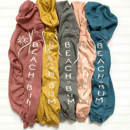beach bum hoodie beach gift ideas for beach lovers