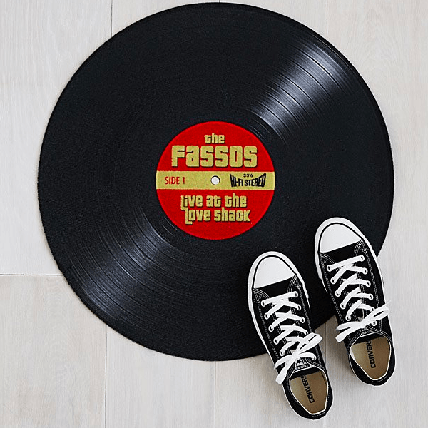 Personalized Record Doormat gifts for music lovers