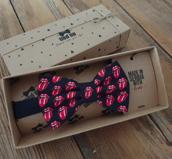 Rolling Stones bow tie