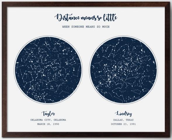 constellation print long term friendship gifts