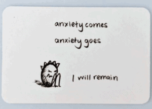anti anxiety reminder card gifts for anxiety