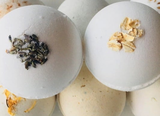 organic bath bombs gifts for anxiety