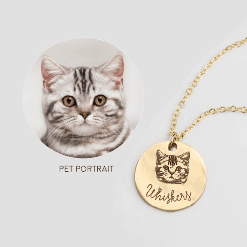personalized necklace for cat lovers