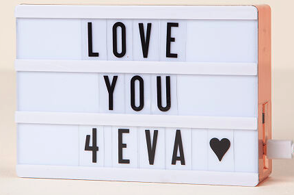 Color Changing Cinema Lightbox Quinceanera Gifts